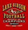 T Shirts • Sports Related • Lake Gibson Football 01 02 03 by Greg Dampier All Rights Reserved.