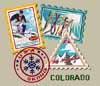 T Shirts • Travel Souvenir • Colorado Stamps by Greg Dampier All Rights Reserved.