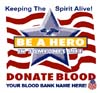 T Shirts • Blood Bank • Be A Hero In Someones Life by Greg Dampier All Rights Reserved.