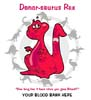 T Shirts • Blood Bank • Donorsaurus Barney by Greg Dampier All Rights Reserved.