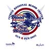 T Shirts • Blood Bank • New Heights Giving Blood by Greg Dampier All Rights Reserved.