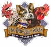 Logos • Hens And A Hound Logo Illustration by Greg Dampier All Rights Reserved.