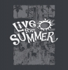 T Shirts • Travel Souvenir • Live For Summer Water Slide Tee by Greg Dampier All Rights Reserved.