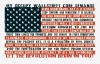 T Shirts • Travel Souvenir • Ocupy Wallstreet Core Demands Flag by Greg Dampier All Rights Reserved.