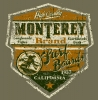 T Shirts • Travel Souvenir • Monterey Shield Surfer Girl by Greg Dampier All Rights Reserved.