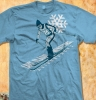 T Shirts • Travel Souvenir • Downhill Ski Tee Rileys Lake George by Greg Dampier All Rights Reserved.