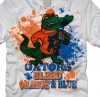T Shirts • Sporting Events • Gators Bleed Orange And Blue by Greg Dampier All Rights Reserved.