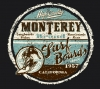 T Shirts • Travel Souvenir • Monterey Brand Blue Maroon by Greg Dampier All Rights Reserved.