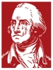 T Shirts • Travel Souvenir • George Washington Crying Over State Of America by Greg Dampier All Rights Reserved.