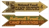 T Shirts • Travel Souvenir • Campground Arrow Signs by Greg Dampier All Rights Reserved.