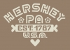T Shirts • Business Promotion • Hershey Pa Crest Tee by Greg Dampier All Rights Reserved.