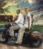 Fine Art • Ruth On Back Of Vintage Mororcycle Alturas Close by Greg Dampier All Rights Reserved.