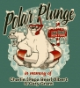 Illustration • Spot Color • Polar Plunge Tee by Greg Dampier All Rights Reserved.