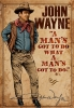 Illustration • Full Color • John Wayne Poster by Greg Dampier All Rights Reserved.