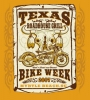 T Shirts • Business Promotion • Texas Roadhouse Grill Bike Week Wanted Poster by Greg Dampier All Rights Reserved.