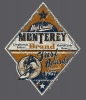 T Shirts • Travel Souvenir • Monterey Boards Guy Orange Navy by Greg Dampier All Rights Reserved.
