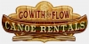 T Shirts • Travel Souvenir • Go With The Flow Canoe Rentals Sign by Greg Dampier All Rights Reserved.