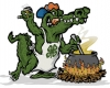 Illustration • Spot Color • Gator Chef by Greg Dampier All Rights Reserved.