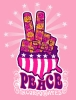 T Shirts • Travel Souvenir • Peace Fingers 2 by Greg Dampier All Rights Reserved.