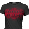 T Shirts • Travel Souvenir • Buckeyes Red Foil by Greg Dampier All Rights Reserved.