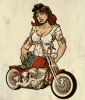 Comics • Color • Babe And A Bike by Greg Dampier All Rights Reserved.