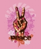 T Shirts • Travel Souvenir • Peace Fingers Floral by Greg Dampier All Rights Reserved.