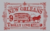 T Shirts • Travel Souvenir • New Orleans Vintage Trolly Stamp D by Greg Dampier All Rights Reserved.