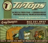 Branding • Tiptops Card by Greg Dampier All Rights Reserved.