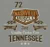 T Shirts • Vehicle Events • Nashville Muscle Orange Brown by Greg Dampier All Rights Reserved.