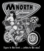 T Shirts • Business Promotion • M North Saloon Pinup Tee 2021 by Greg Dampier All Rights Reserved.