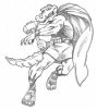 Illustration • Pencil • Thor Gator Sketch by Greg Dampier All Rights Reserved.