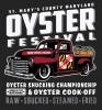 T Shirts • Vehicle Events • Oyster Fest Truck Art by Greg Dampier All Rights Reserved.