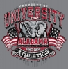 T Shirts • Sporting Events • Crimson Tide Elephant Tee by Greg Dampier All Rights Reserved.