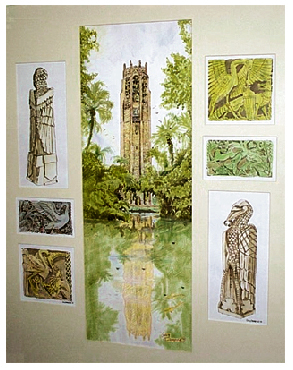 Bok Tower Gardens illustrations by Greg Dampier - Illustrator & Graphic Artist of Portland, Oregon