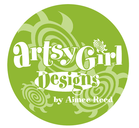 Artsy Girl Designs Logo by Greg Dampier - Illustrator & Graphic Artist of Portland, Oregon