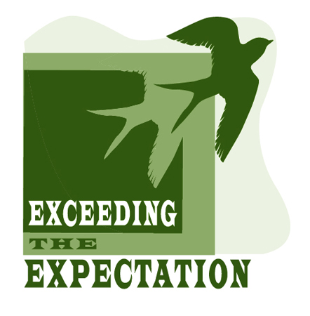 Exceeding the Expectation Logo by Greg Dampier - Illustrator & Graphic Artist of Portland, Oregon