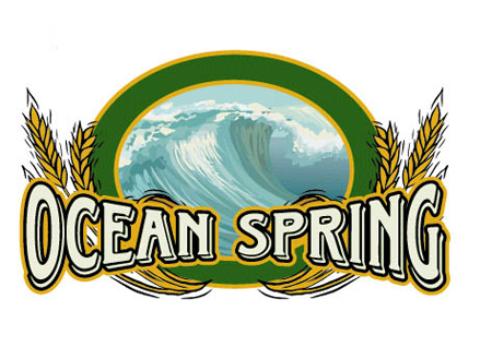Ocean Spring Logo Option 4 by Greg Dampier - Illustrator & Graphic Artist of Portland, Oregon