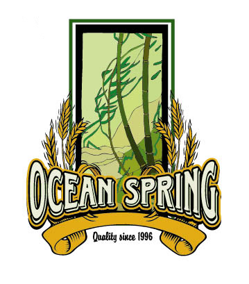 Ocean Spring Logo Option 5 by Greg Dampier - Illustrator & Graphic Artist of Portland, Oregon