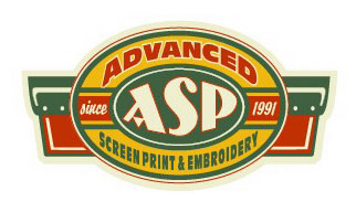 Advanced Screen Printing Logo Option 8 by Greg Dampier - Illustrator & Graphic Artist of Portland, Oregon