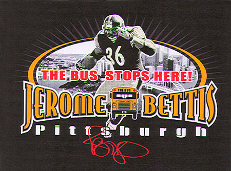 Pittsburgh - Jerome Bettis - 1 by Greg Dampier - Illustrator & Graphic Artist of Portland, Oregon