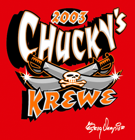 Tampa Bay - Bucs - Chuckys Krewe by Greg Dampier - Illustrator & Graphic Artist of Portland, Oregon