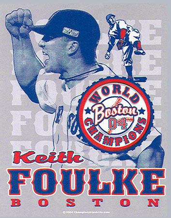 Boston - Keith Foulke 1 by Greg Dampier - Illustrator & Graphic Artist of Portland, Oregon