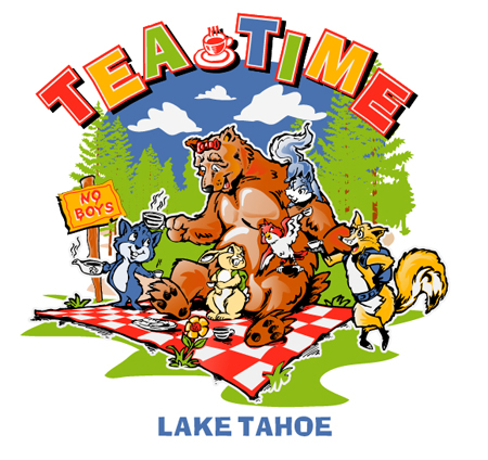 Tea Time - Lake Tahoe by Greg Dampier - Illustrator & Graphic Artist of Portland, Oregon