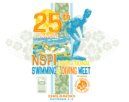 25th NSPI Dive and Swim Meet by Greg Dampier - Illustrator & Graphic Artist of Portland, Oregon