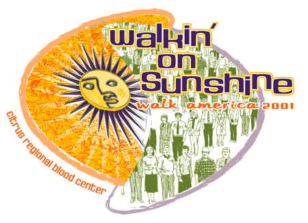 Walkin on Sunshine - Walk America 01 by Greg Dampier - Illustrator & Graphic Artist of Portland, Oregon