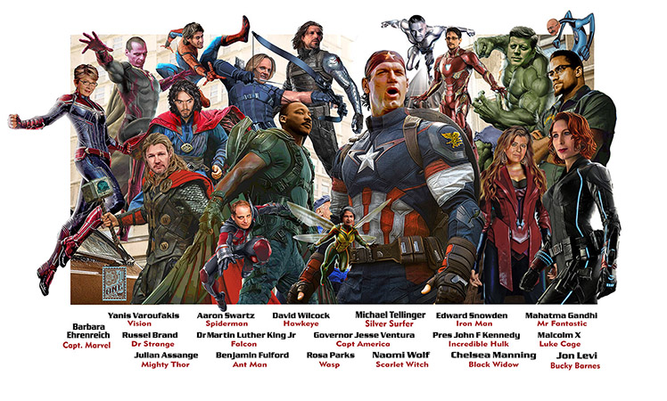 Real Life Heroes Avenger Style Greg Dampier full by Greg Dampier - Illustrator & Graphic Artist of Portland, Oregon