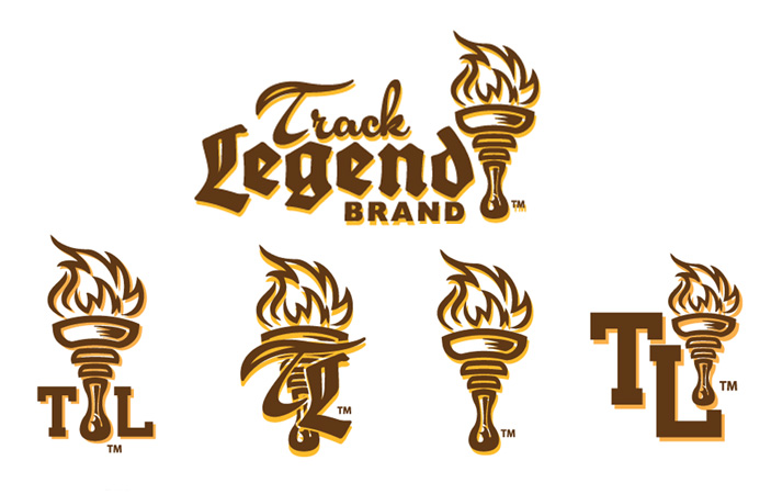 Track Legend Logo by Greg Dampier - Illustrator & Graphic Artist of Portland, Oregon