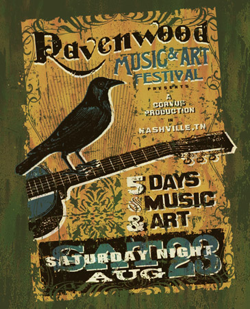 ravenwood festival by Greg Dampier - Illustrator & Graphic Artist of Portland, Oregon