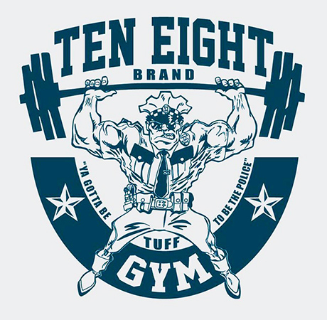 Ten Eight brand Gym by Greg Dampier - Illustrator & Graphic Artist of Portland, Oregon