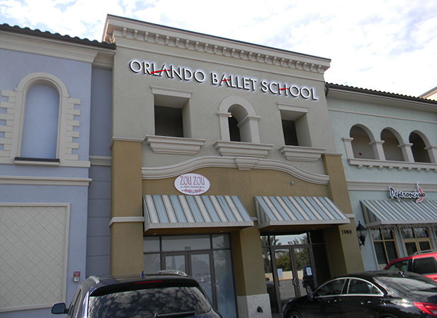 Orlando Ballet South School Sign Proposal by Greg Dampier - Illustrator & Graphic Artist of Portland, Oregon